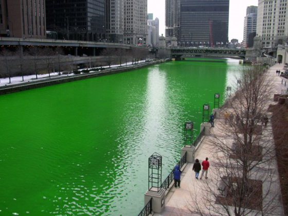 Chicago River1 Mc Donalds se met au vert !