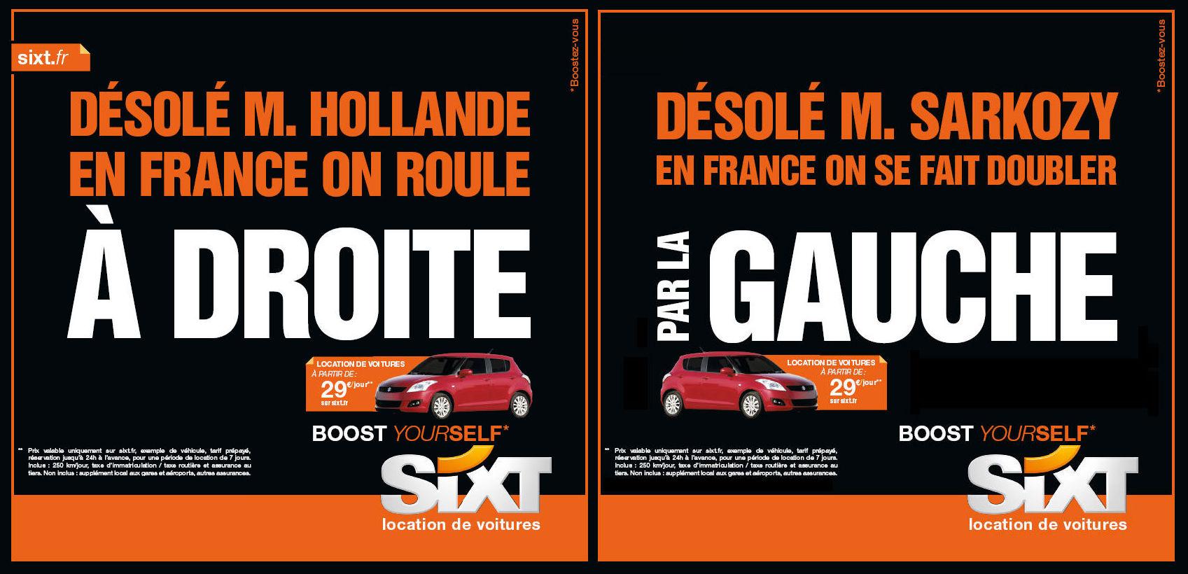 Sixt location de voitures Boost yourself presidentielles 11 Sixt, le candidat outsider des présidentielles