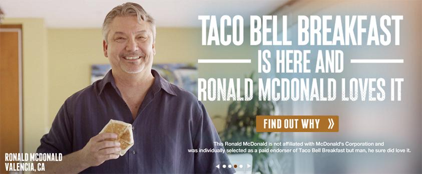 taco bell2 Le petit déjeuner préféré de Ronald McDonald